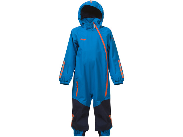 f1a5fbdf Bergans Lilletind Coverall Kids lt sea blue/navy/koi orange | Gode ...